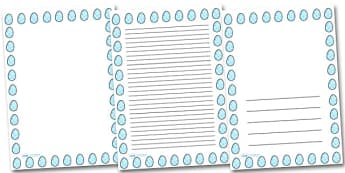 Star Easter Egg Portrait Page Borders- Portrait Page Borders - Page border, border, writing template, writing aid, writing frame, a4 border, template, templates, landscape