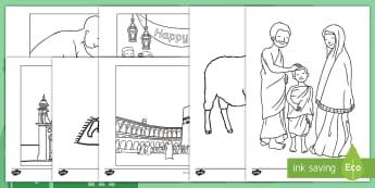Eid al-Adha Colouring Pages - eid al-adha, islamic holidays, muslim holidays, hajj, eid