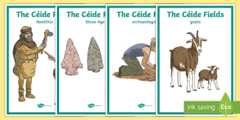 The Céide Fields Display Posters -  stone age, neolithic, farmers, stone, mayo, history, site, Irish