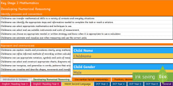 Wales - Report Writing Bank of Statements KS2 Report - DCF, wales, year 3, year 4, year 5, year 6