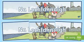 Na Lochlannaigh Display Banner