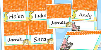 Under the Sea Themed Birthday Party Place Names And Food Lables