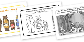 Goldilocks and the Three Bears Story - Goldilocks, traditional tales, tale, fairy tale, three bears, porridge, cottage, beds