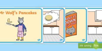 Story to Support Teaching on Mr Wolf's Pancakes - mr wolfs pancakes, story, stories, book