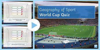 World Cup Quiz PowerPoint  - In the Shadow of the Stadium, economy, impacts, advantages, disadvantages, environment, social, plan
