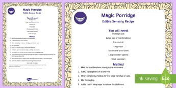 Magic Porridge Edible Sensory Recipe - exploration, baby play, taste-safe, toddler play, messy play, malleable play, slime