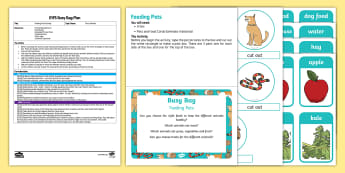 EYFS Feeding Pets Posting Busy Bag Plan and Resource Pack - EYFS Pets, Animals, National Pet Month, dog, cat, rabbit, guinea pig, snake, pet food, caring, needs