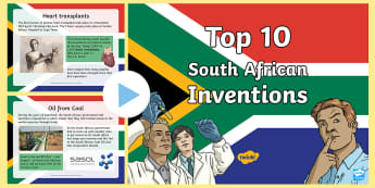 Top Ten South African Inventions PowerPoint - Heritage Day, inventions,South African, top 10, powerpoint