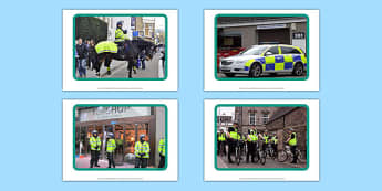 Police Display Photos - Officer Bear, Police Officer, police station, hat, car, siren, dog, coat, light, help, save, rescue, emergency, 999