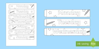 Handwriting Days of the Week Paper Chain Activity - KS1&2 Handwriting day 23rd Jan 2017, handwriting, days, practise, practice, craft, paper chain,