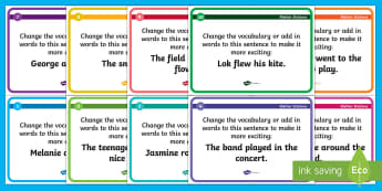 Improving Vocabulary Blether Stations - CfE Literacy, vocabulary, improving vocabulary, blether stations, vcop,Scottish
