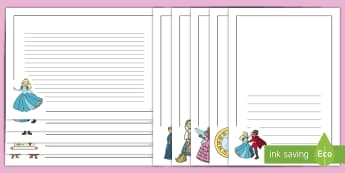 Cinderella Page Borders - Cinderella, slipper, page border, a4 border, template, writing aid, writing border, page template, Traditional tales, tale, fairy tale, Pince Charming, Ugly Sisters, Step Godmother, Dress, Midnight, Carriage, mice, pumpkin