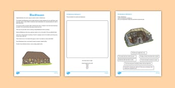A Blackhouse Drawing and Labelling Activity Sheet - jacobite, blackhouse, drawing, labelling, activity sheet, activity, sheet, worksheet