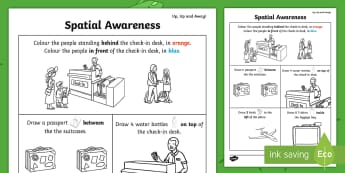 Up, Up and Away! Spatial Awareness Activity Sheet - ROI, Exploring our world, space, Airport, Travelling, worksheet, Aistear, story, maths, position, di