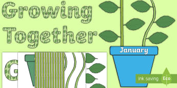 Growing Together Plant Themed Birthday Display Pack - birthdays, birthday board, months of the year, birthday chart, birthday display,