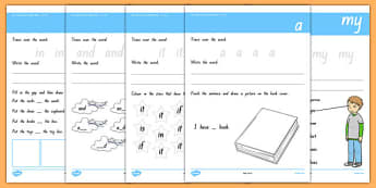 New Zealand Essential Spelling Words List One Write-Up Sheet