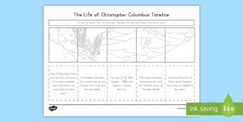 Life of Christopher Columbus Activity Sheet - Christopher Columbus, Columbus, Explorers, America, Columbus Day
