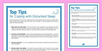 Top Tips for Coping with Disturbed Sleep - sleep deprivation, disrupted sleep, newborn, baby, sleep