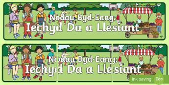 Baner Nodau Byd-Eang: Iechyd Da a Llesiant - lles, byd, hinsawdd, tlodi, wellbeing, Scottish