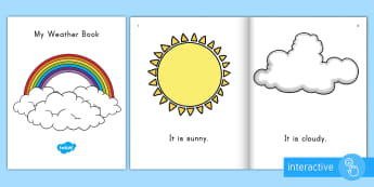 My Weather Book Emergent Reader eBook - Ebook, emergent reader, weather book, weather ebook, weather emergent reader, weather words, weather
