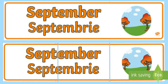 September Display Banner English/Romanian - September Display Banner - september, display banner, display, banner, months, year, EAL