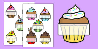 Editable Self Registration (Cupcakes)- Self registration, register, editable, labels, registration, child name label, printable labels, cupcakes, baking, cake