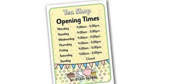 Tea Shop Role Play Opening Times - tea shop, role play, opening times, tea shop opening times, role play opening times, tea shop role play, role play times