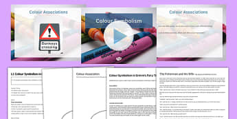 Colour Symbolism Lesson Pack 1 - colour symbolism, lesson pack, 1, lesson, pack, colour, symbolism