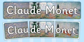 Claude Monet Display Banner - claude, monet, display, banner