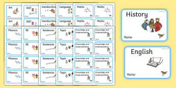 Nightingale Themed Editable Book Labels - Themed Book label, label, subject labels, exercise book, workbook labels, textbook labels