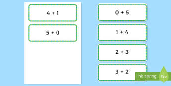 Number Bonds to 5 Number Sentence Cards - number bonds, 5, number sentence, number, sentence, bonds, cards