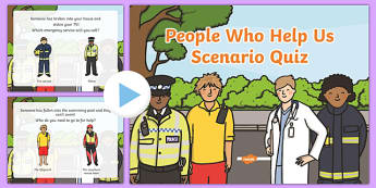 EYFS People Who Help Us Scenario Quiz - quizzes, games, eyfs