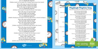 Playdough Playtime Song - Playdough Play, dough disco, finger gym, fine motor skills, physical development.