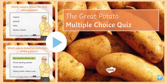 The Great Potato Quiz PowerPoint - food, primary, industry, agriculture, produce, Scotland