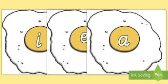 Phoneme auf Eiern für die Klassenraumgestaltung-German - Phoneme auf Eiern Poster für die Klassenraumgestaltung - Phoneme mit Bildern, Phoneme auf Eiern Pos