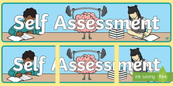 Self Assessment Display Banner - Assessment Board Display Banner - assessment, banner, header, sats, abnner, assesment