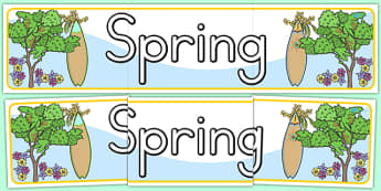 Spring Display Banner - seasons, weather, header, display banner