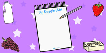 Supermarket Shopping Lists - Supermarket Role Play, Role Play Shopping Lists - Shopping list, Shopping, Role Play, Money, Shop, Till, Purchase, topic, activity, buying supermarket resources, food, labels, till, customer, checkout, basket, food aisle,