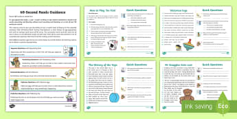 60-Second Reads: Toys and Games Activity Cards - 90 Words A Minute, Ninety Words, Reading, Guidance, Year 2, Y2, One Minute Reading