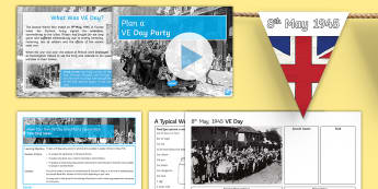 Make Your Own VE Day Street Party Lesson Pack - Secondary - Event - VE Day 08/05/2017, history, KS3, rationing, second world war, blitz, home front,