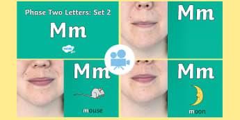 Phase 2 Phonemes : Set 2 'm' Video - Phonics, Letters and Sounds, Grapheme, pronunciation, i,n,m,d,phoneme, Twinkl Go, twinkl go, TwinklGo, twinklgo