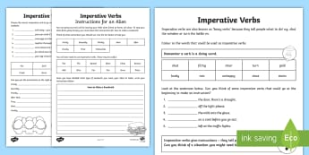 Imperative Verbs Bossy Words Worksheet - imperative verbs, bossy words, worksheet, imperatives, imperative, verbs, bossy, tell people what to do