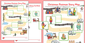 Story Map Activity Resource Pack To Support Teaching On The Jolly Christmas Postman - EYFS, Early Years, planning, Christmas, L, Literacy, storytelling, Janet and Allan Ahlberg, The Jolly Christmas Postman