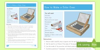 Solar Oven STEM Science Experiment - Renewable Energy, Solar Energy, Solar Oven, Solar, STEM, Energy