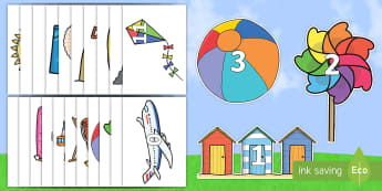 Numbers 0 to 20 on Summer Images - NI, Summer, seasons, warm, hot, weather, sun cream, sunshine, numbers, count, counting, zero, one, 0