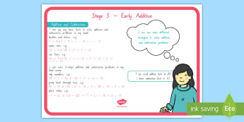 Stage 5 Addition and Subtraction Maths Display Poster - stage 5 maths, new zealand maths, numeracy project, maths overview, maths outcomes, maths goals, mat