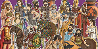 Ancient Greece Large Display Cut Out Pack - ancient greece, display