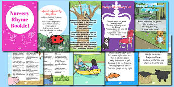 Nursery Rhyme Booklet - rhymes, poems, poetry, rhyming, books