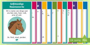 Afrikaans Taal Reëls Woordsoorte Plakkers  - Afrikaans Taal Reëls, woordesoorte, plakkate
