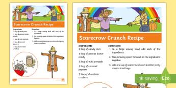 Scarecrow Crunch Recipe -  recipe, fall recipe, fall, autumn, party, celebration